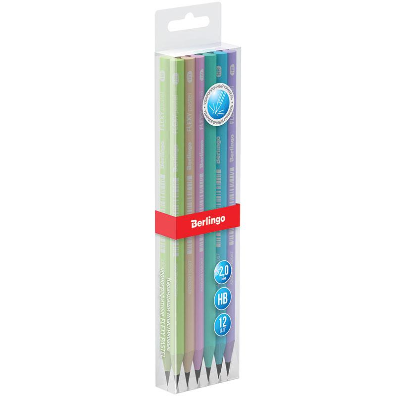 """Анонс-изображение товара карандаш ч/г berlingo """"flexy pastel"""" hb, трехгранный, заточен., пластиковый, пвх-бокс, bp01013"""