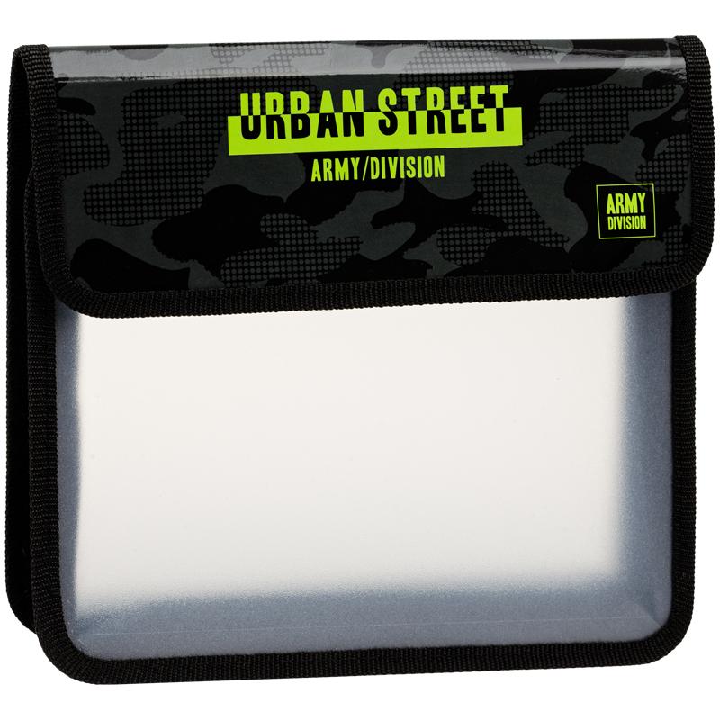 """Анонс-изображение товара папка для тетрадей 2 отделения, а5, artspace """"urban"""", пластик, на липучке, пт-95_29541"""