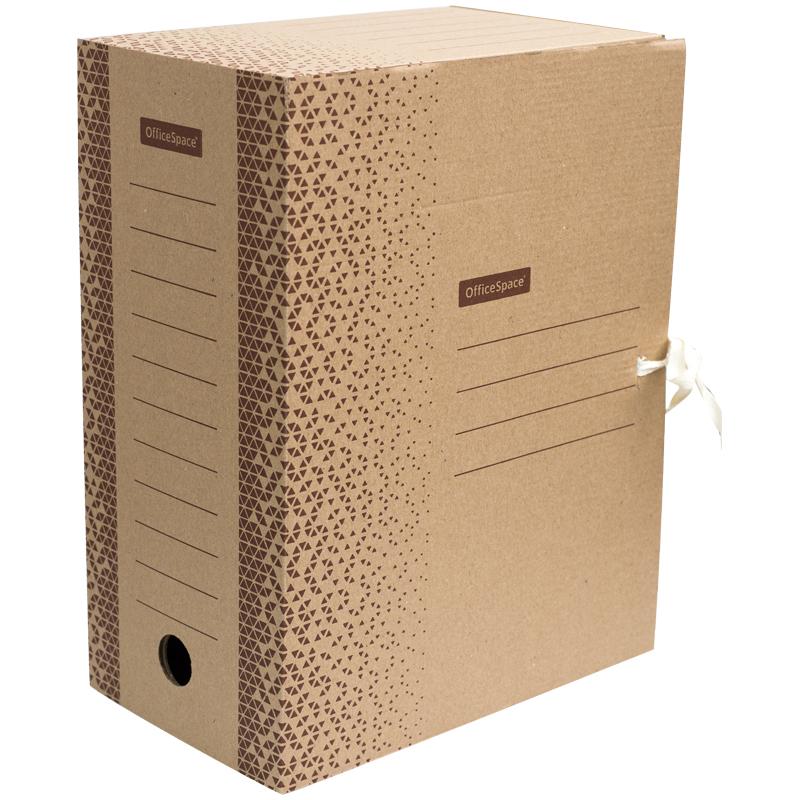 """Анонс-изображение товара папка архивная с завязками officespace """"standard"""" плотная, микрогофрокартон, 150мм,  бурый, 1400л.,"""