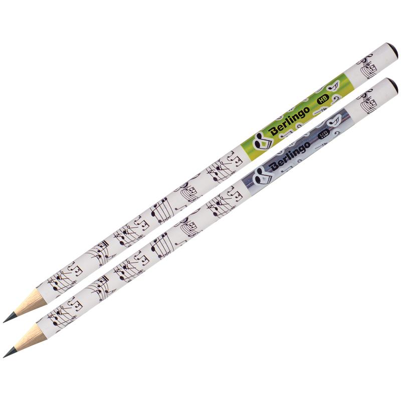 """Анонс-изображение товара карандаш ч/г berlingo """"hybrid"""" hb, круглый, заточен., ассорти, bp01175"""